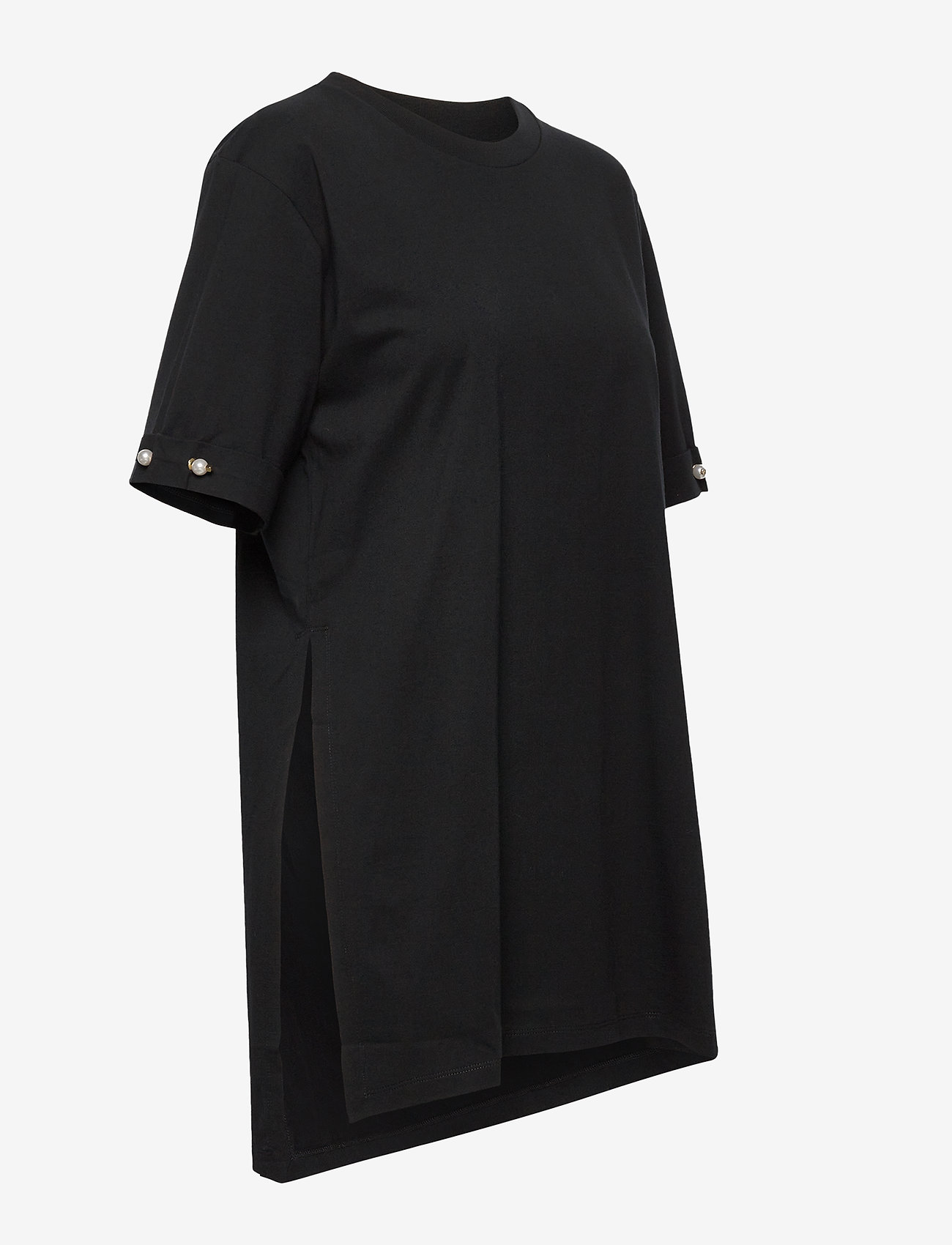 Mother of Pearl - MINTIE OVERSIZED T-SHIRT WITH PEARL BAR - t-shirts - black - 3