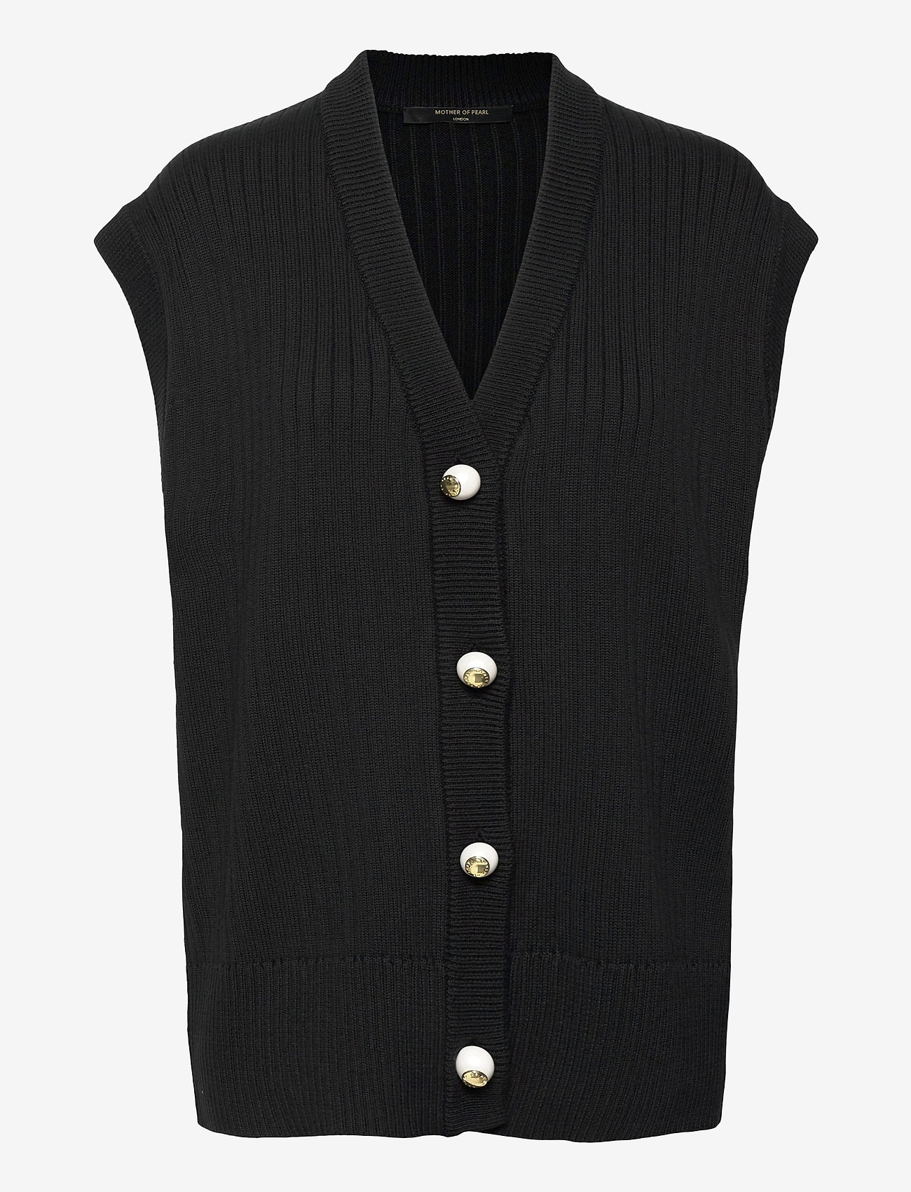 Mother of Pearl - CASEY KNIT CARDIGAN - knitted vests - black - 0