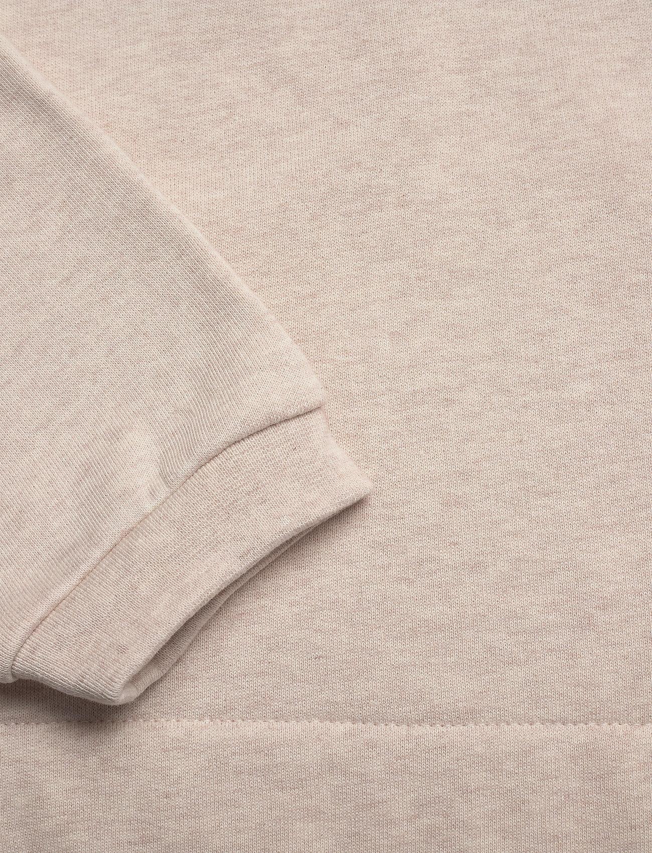 Mother of Pearl - DANI CROPPED JUMPER WITH PEARL SHOULDER - sweatshirts en hoodies - oatmeal - 4