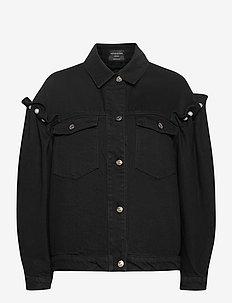 BRENNON DENIM JACKET - kurtki dżinsowe - black