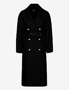 MEG COAT - trenchcoats - black