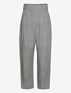PEYTON TROUSERS - broeken med straight ben - prince of wales check