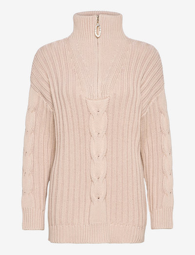 MIA CABLE KNIT JUMPER - pullover - oatmeal