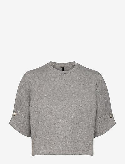 MONICA CROPPED T-SHIRT - crop tops - grey