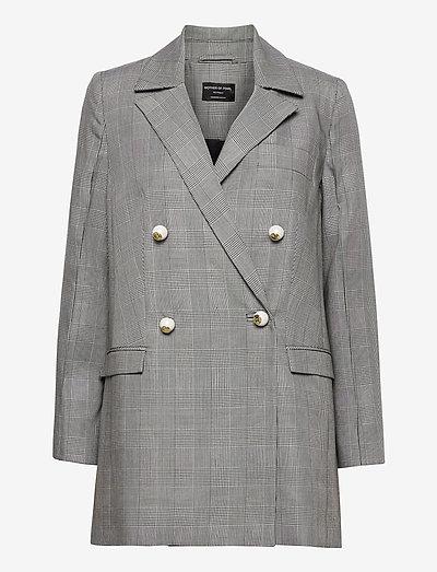 MORGAN JACKET - oversize blazers - prince of wales check