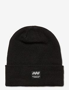 BOX BEANIE - hats - black