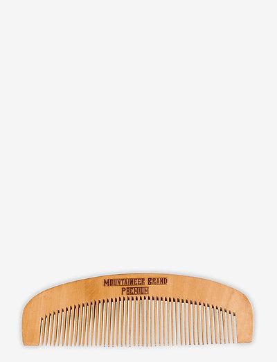 Wooden Beard Comb 14cm - hårbørster & kamme - natural