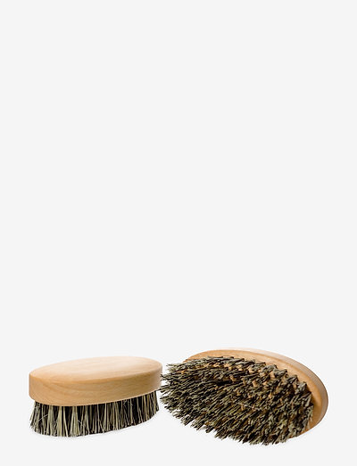 Oval Beechwood Vegan Cactus Beard Brush - hårbørster & kamme - natural