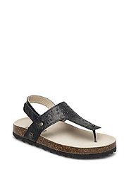 Girl Cork backstrap sandal - 938/BLACKDOTTED