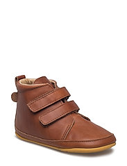 Prewalker - Velcro boot - 476/COGNAC