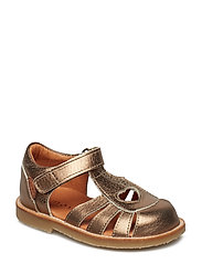 Infant - Girls sandal with heart - 936 ANTIQUE GOLD