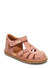 Infant - Girls sandal with heart - DUSTY ROSE