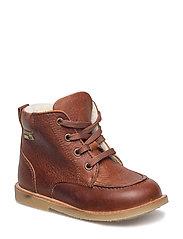 Infant - Winter boot w. mock stitch - COGNAC