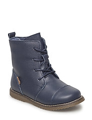 Infant - Lace boot w/wool lining - BLUE NIGHTS