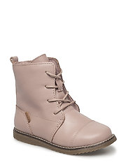 Infant - Lace boot w/wool lining - ROSE BON