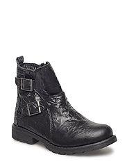 Girls - Winter boot w/buckles - BLACK