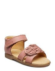 Infant - Girls sandal w/deco - DUSTY ROSE