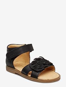 Infant - Girls sandal w/deco - BLACK