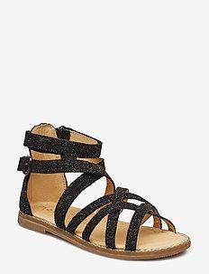 Girls - Gladiator sandal - BLACK GLITTER