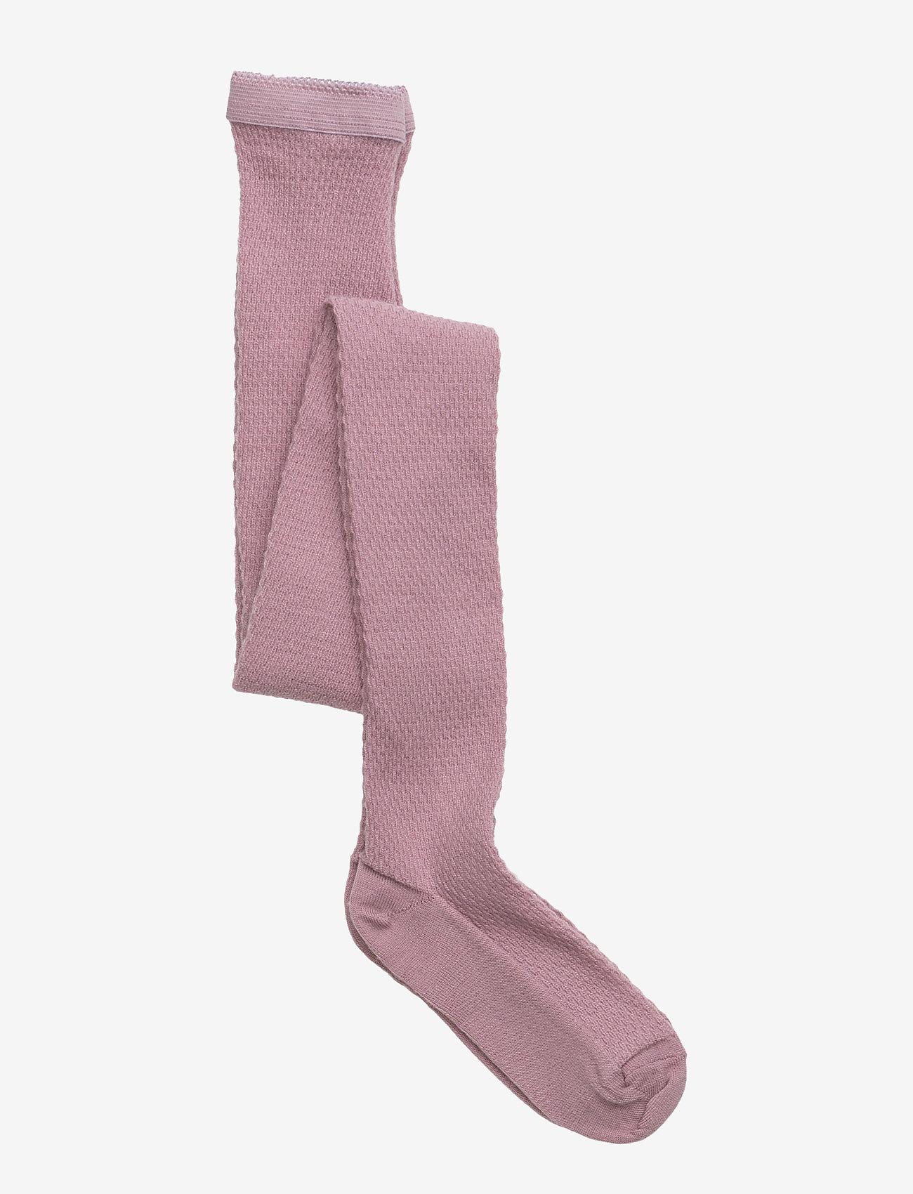 mp Denmark - Capsule wool tights - strømpebukser - 188/wood rose - 0