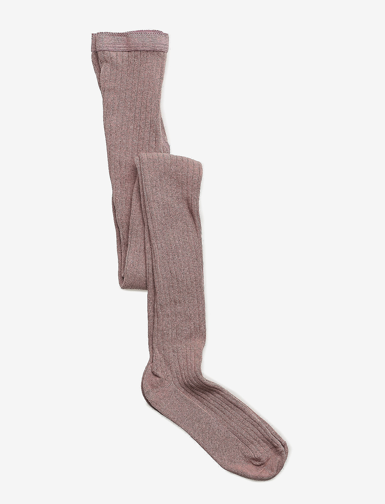 mp Denmark - Cotton rib tights - strømpebukser - 870/rose grey - 0