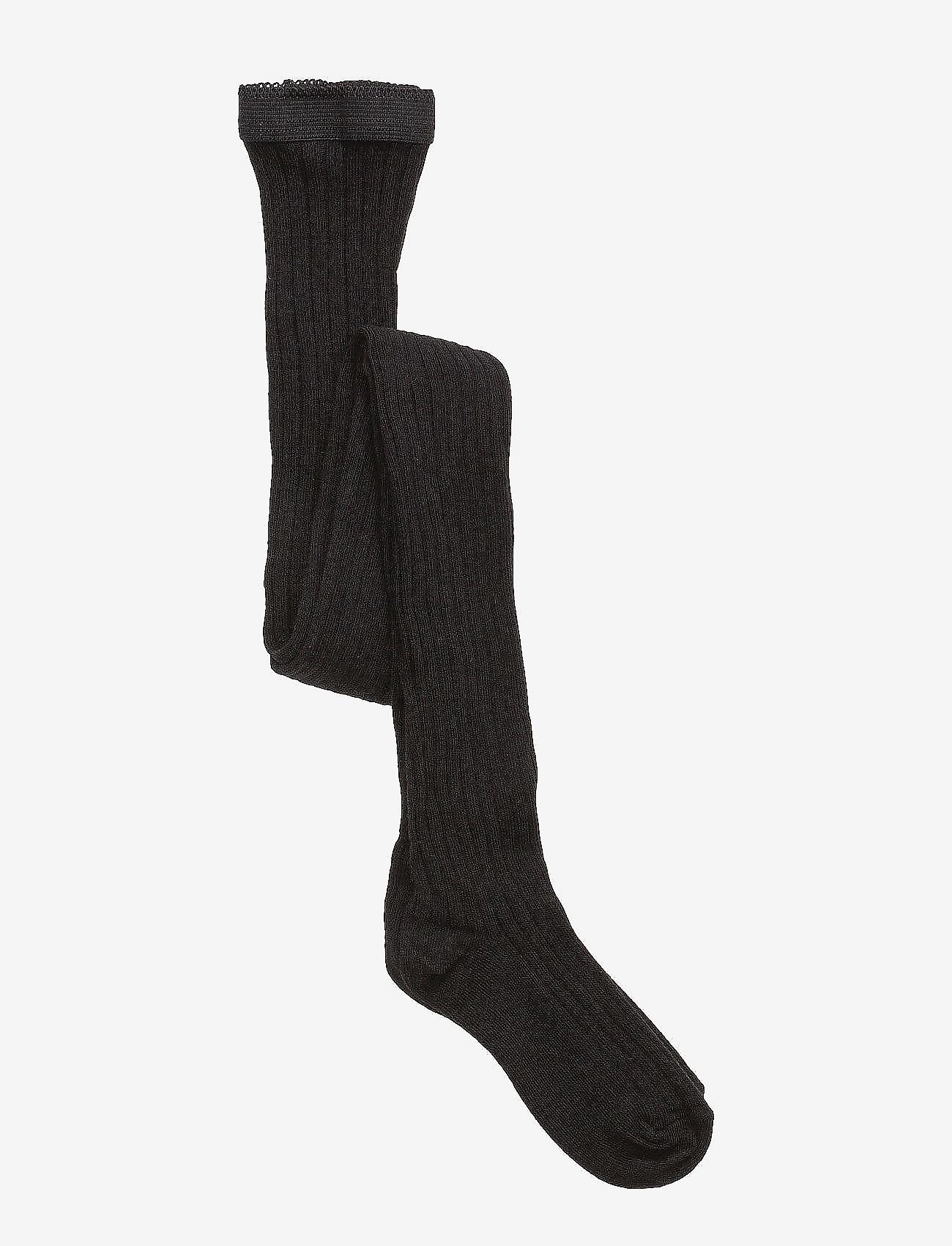 mp Denmark - Cotton rib tights - strømpebukser - 8/black - 0