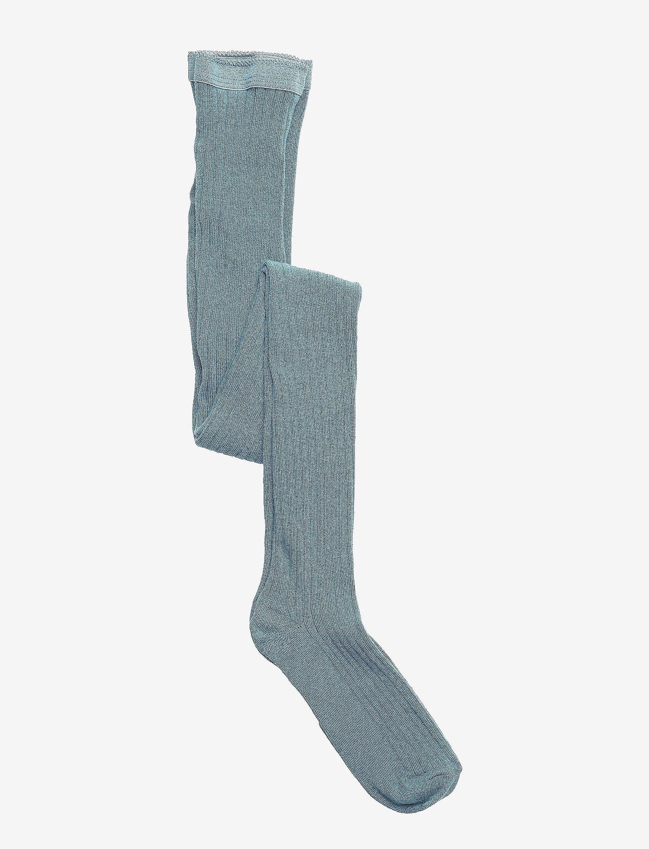 mp Denmark - Cotton rib tights - strømpebukser - stormy sea - 0