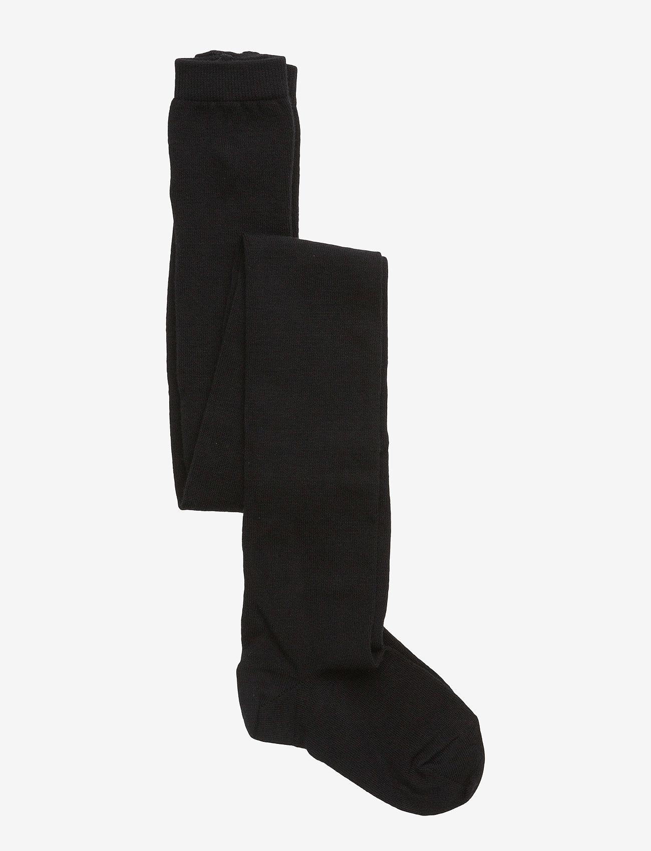 mp Denmark - Plain wool/cotton tights - strømpebukser - 8/black - 0