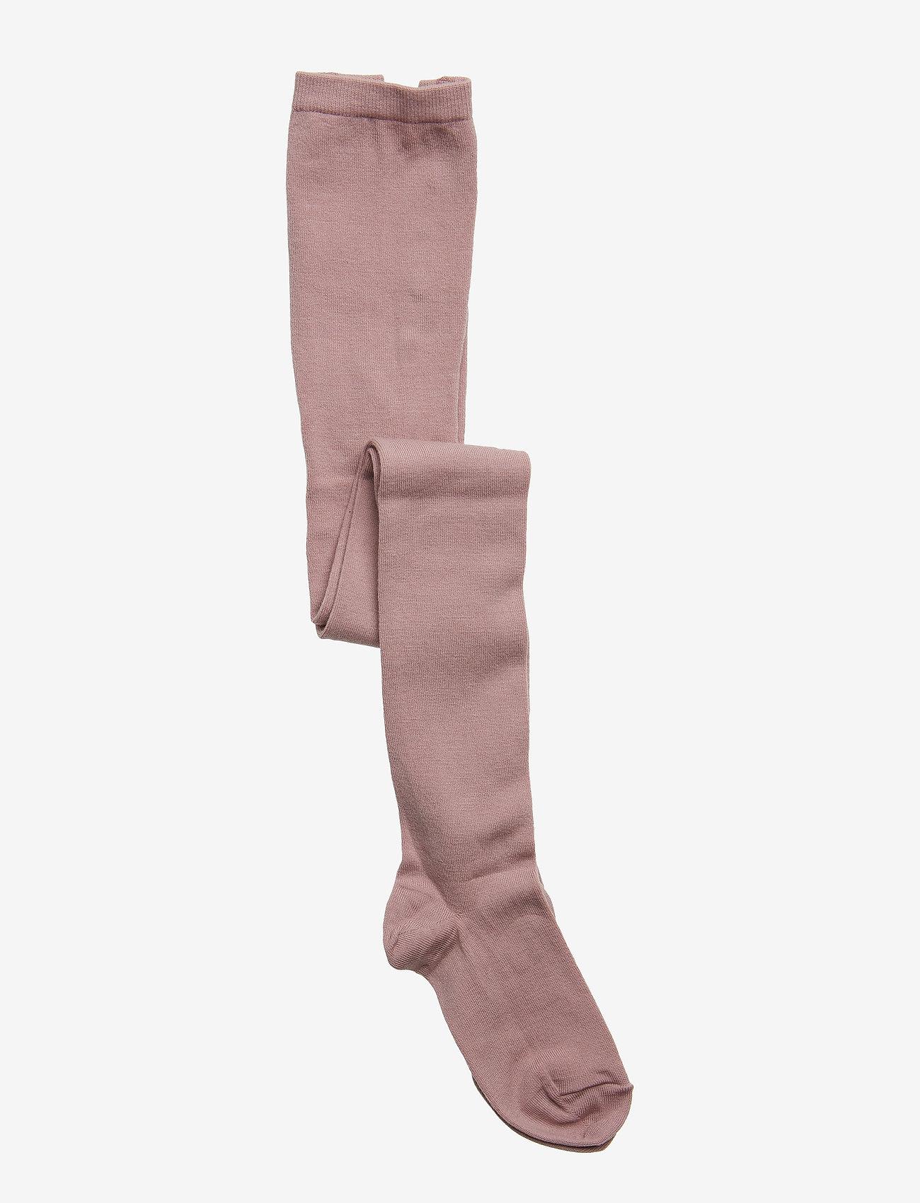 mp Denmark - Plain wool/cotton tights - strømpebukser - wood rose - 0