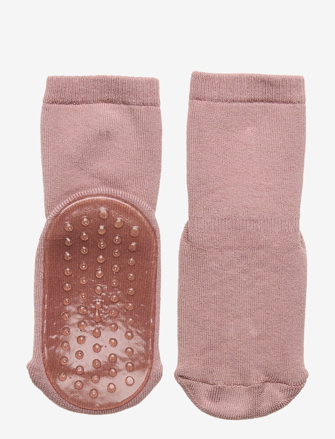 mp Denmark - Cotton socks with anti-slip - non-slip sokker - rose grey - 0