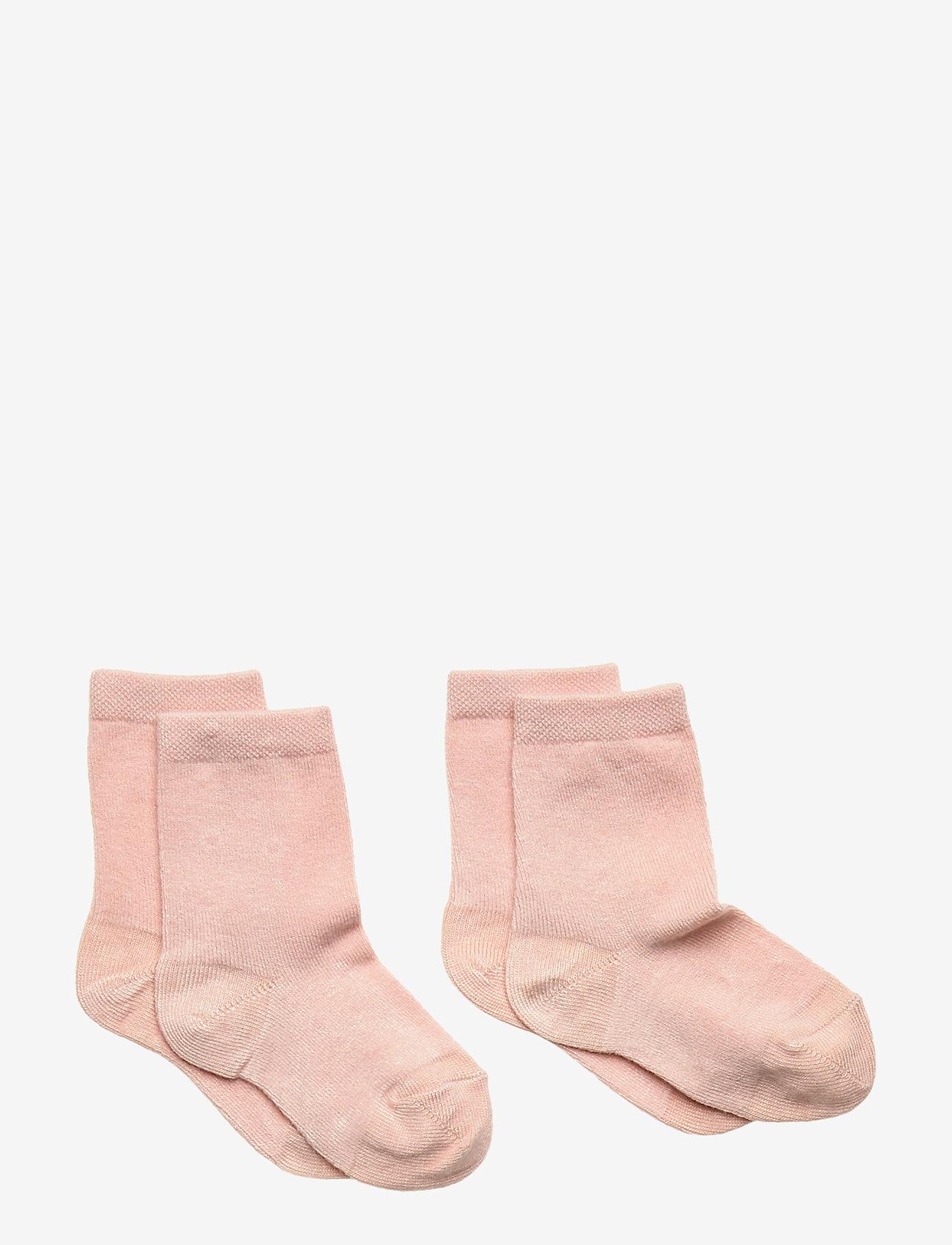 mp Denmark - 2-pack bamboo socks - skarpetki - rose dust - 0