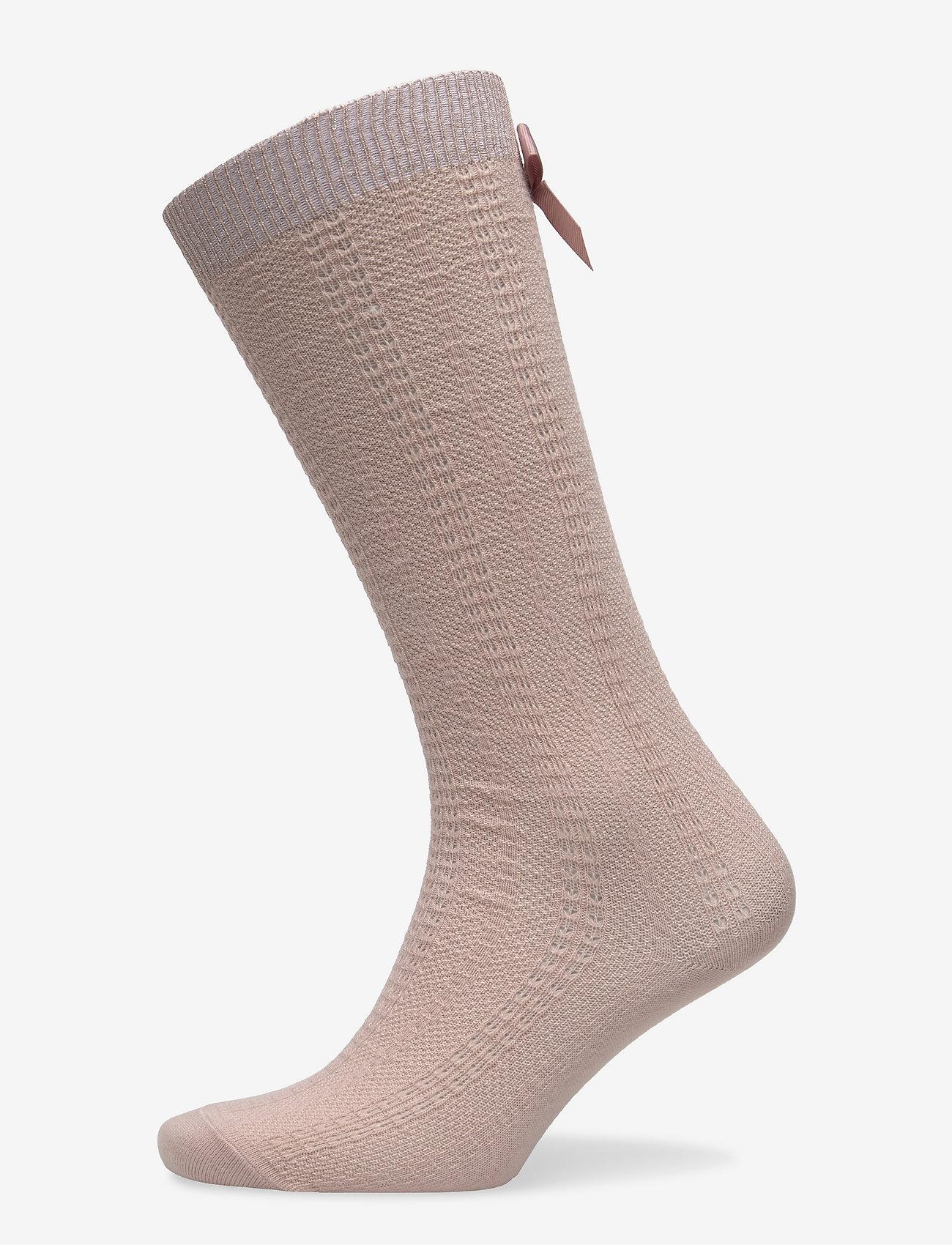 mp Denmark - Sofia knee socks with bow - skarpetki - rose dust - 0
