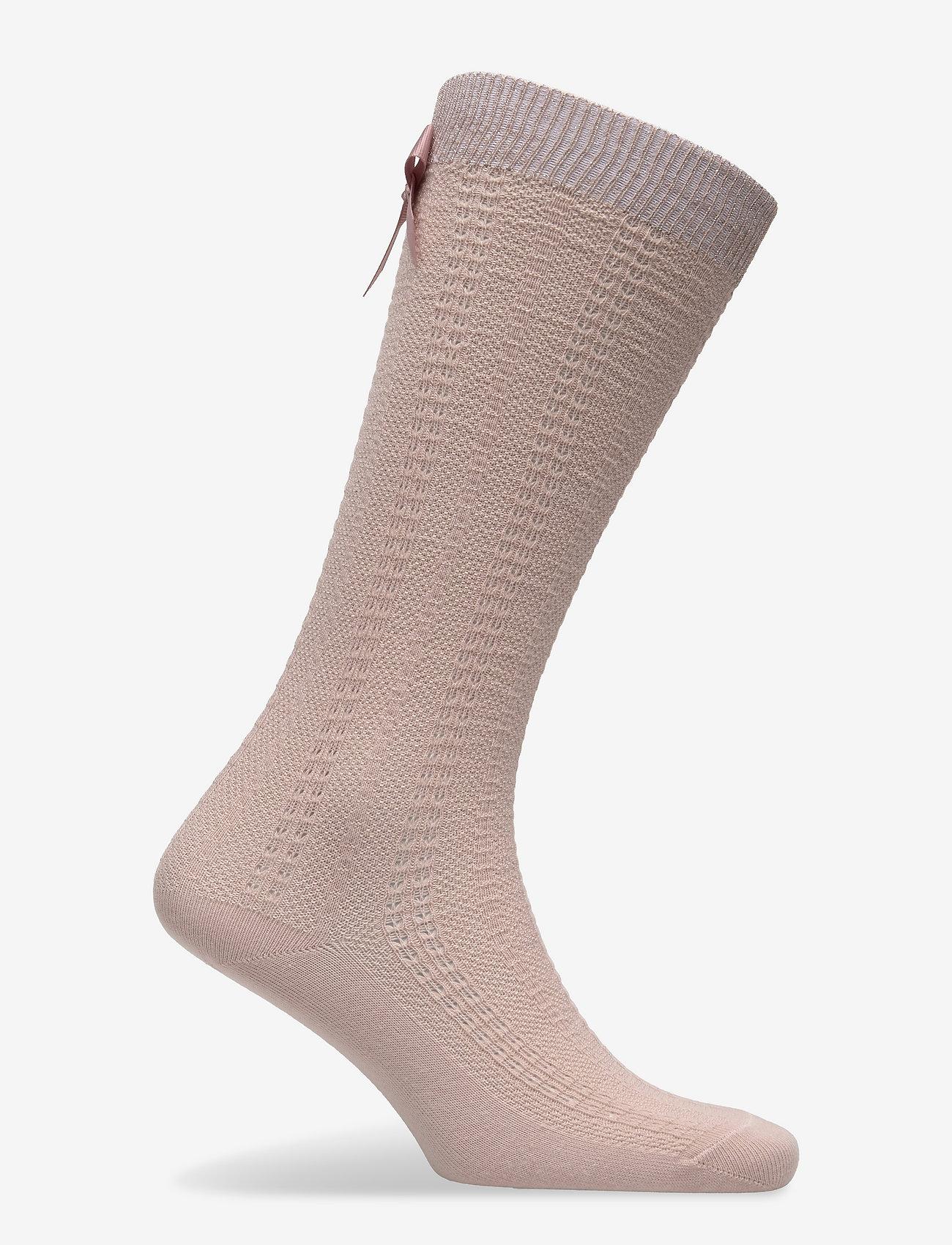 mp Denmark - Sofia knee socks with bow - skarpetki - rose dust - 1
