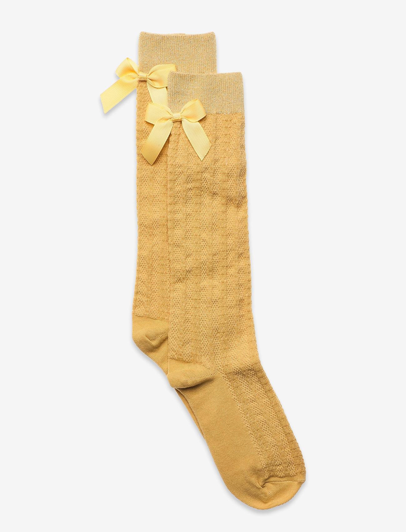 mp Denmark - Sofia knee socks with bow - skarpetki - yellow - 0