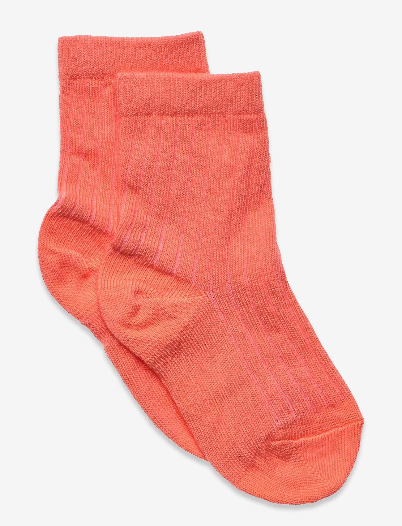 mp Denmark - Cotton rib socks - skarpetki - orange - 0