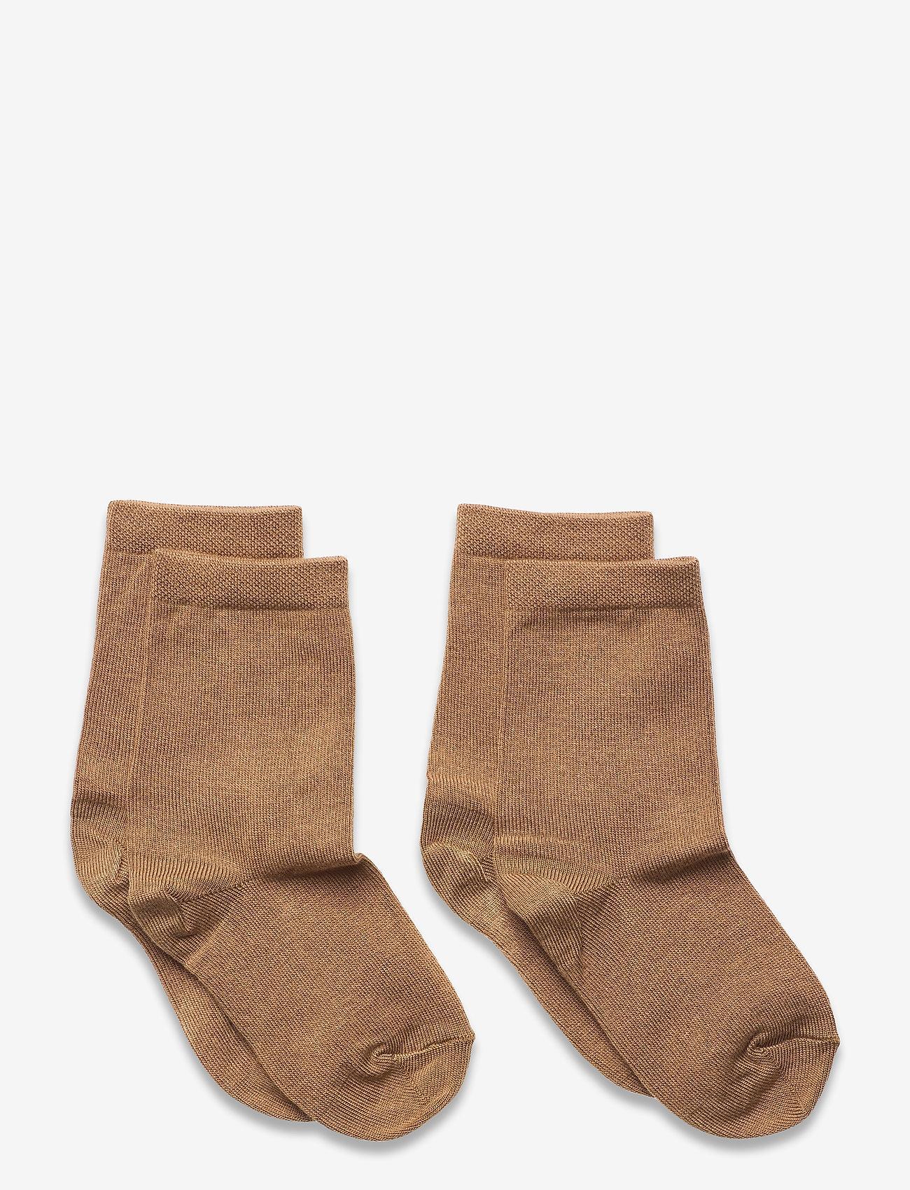 mp Denmark - 2-pack bamboo socks - skarpetki - brown - 0