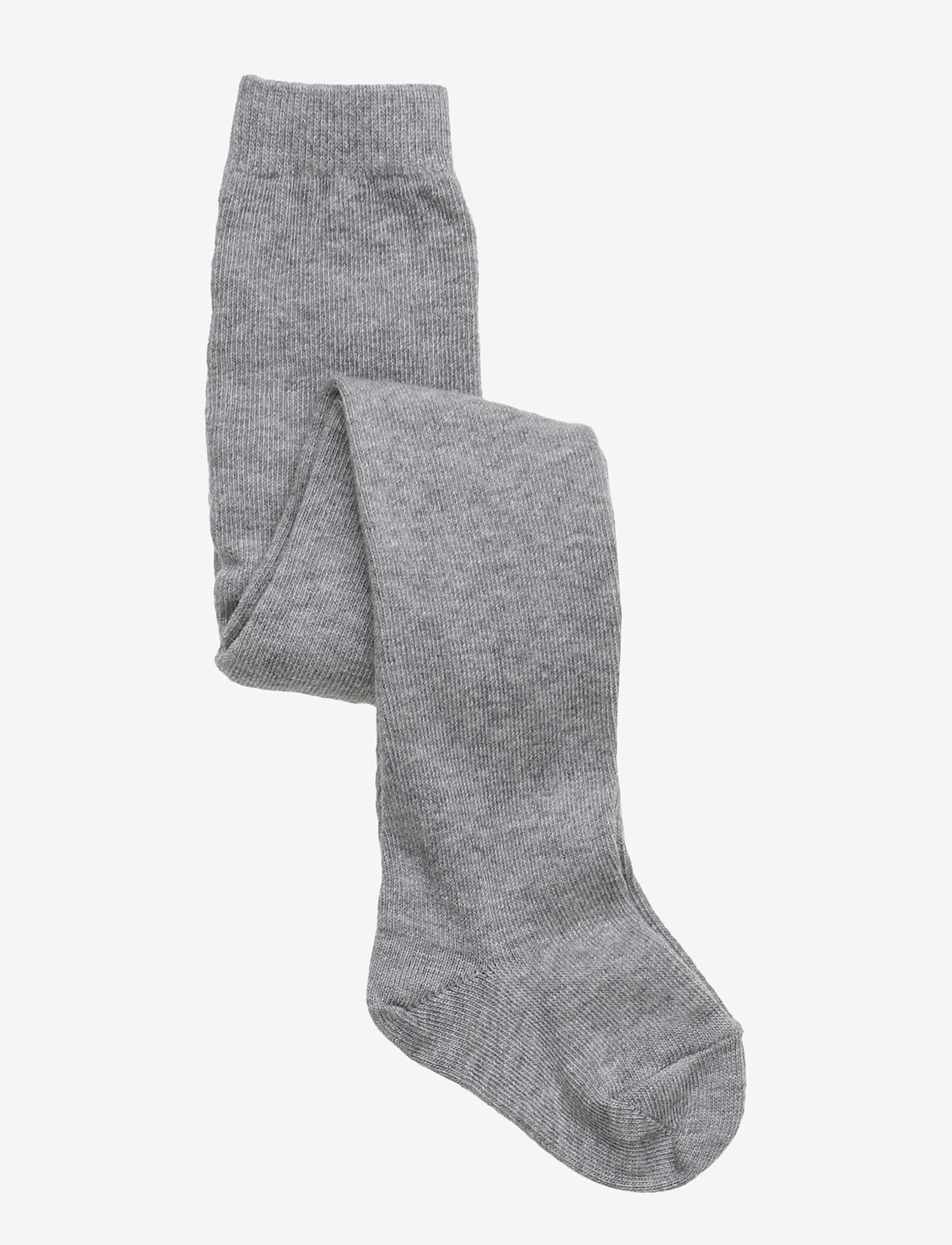 mp Denmark - Plain cotton tights - strømpebukser - 491/grey marl. - 0