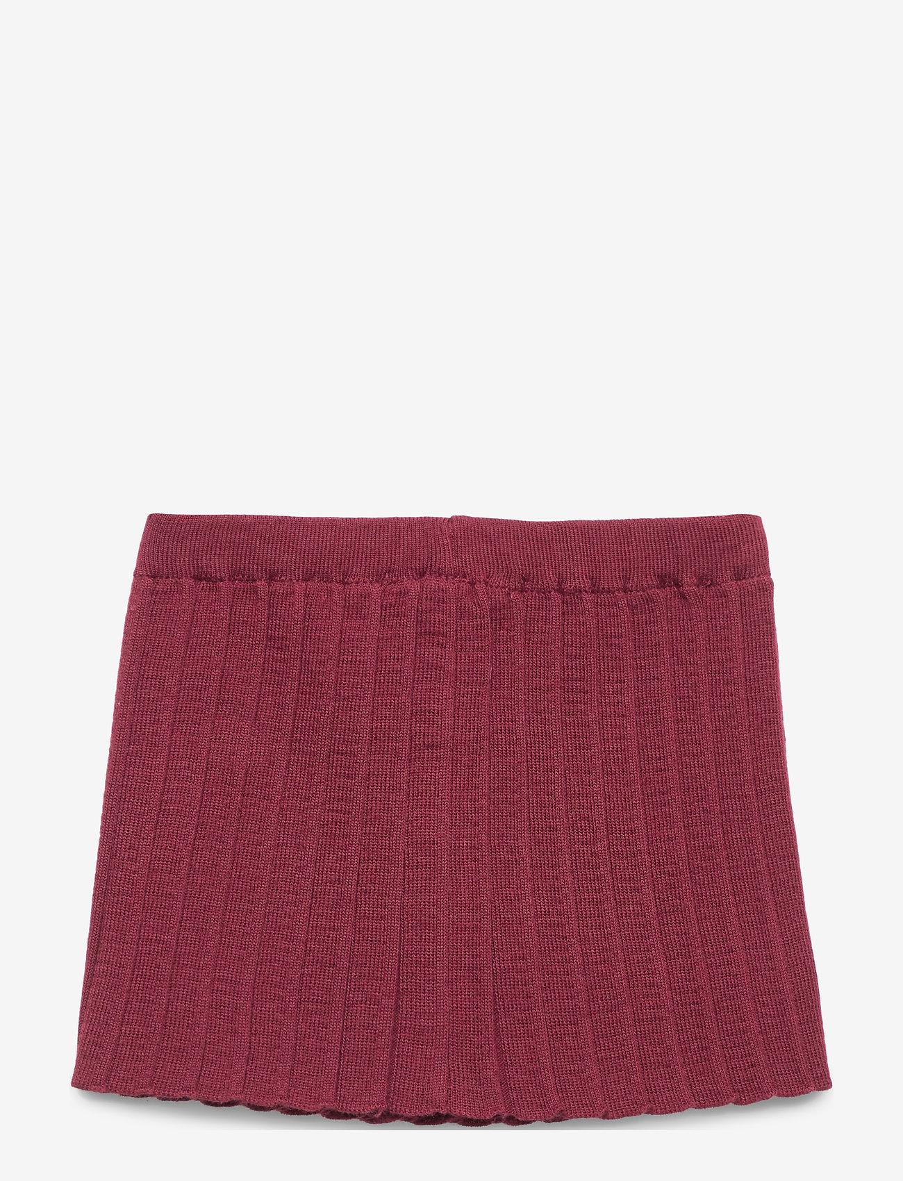 mp Denmark - Pleated Skirt - nederdele - wine red - 1
