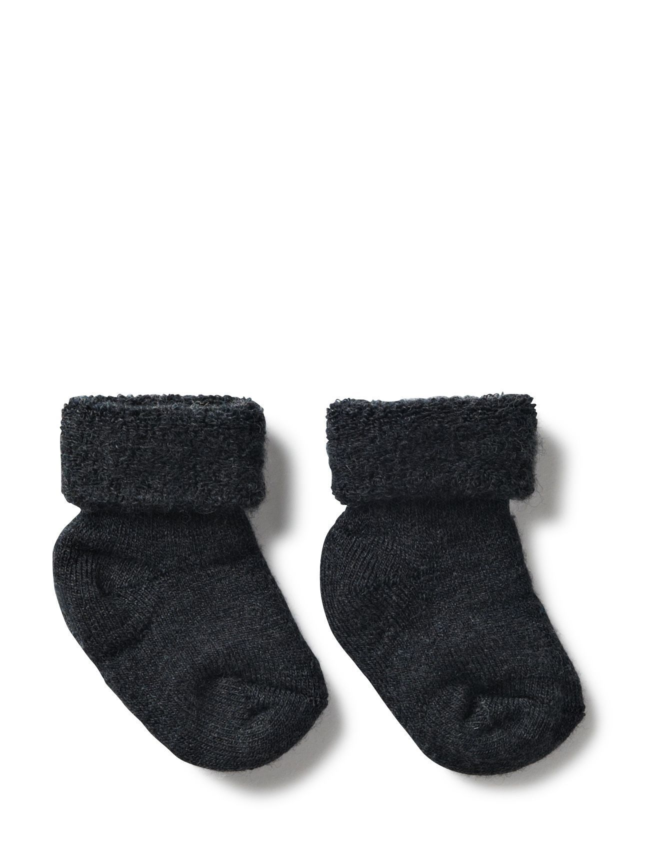 mp Denmark ANKLESOCK TERRY WOOL BABY - ANTHRACITE