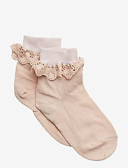 Cotton socks with lace - ROSE DUST