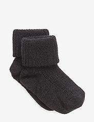 mp Denmark - Rib wool baby socks - strømper - 66/navy - 0