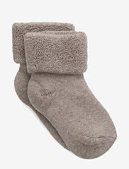 mp Denmark - Plain bayb terry socks - strømper - 489/light brown - 0