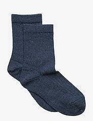 Wool rib socks - BROWN MARL