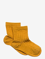 mp Denmark - Rib wool socks - strømper - gold - 0