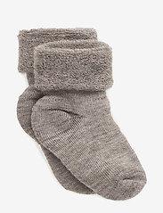mp Denmark - Baby terry wool socks - strømper - 202/light brown - 0