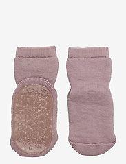 mp Denmark - Wool socks with anti-slip - non-slip sokker - 188/wood rose - 0