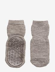 mp Denmark - Wool socks with anti-slip - non-slip sokker - 202/light brown - 0