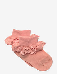 mp Denmark - Cotton socks with lace - skarpetki - guava - 0