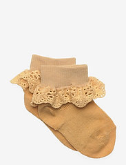Cotton socks with lace - OCHRE