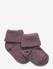Wool rib baby socks - GRAPE SHAKE